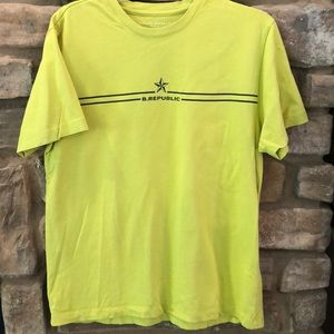 Banana Republic cotton neon logo t shirt size M